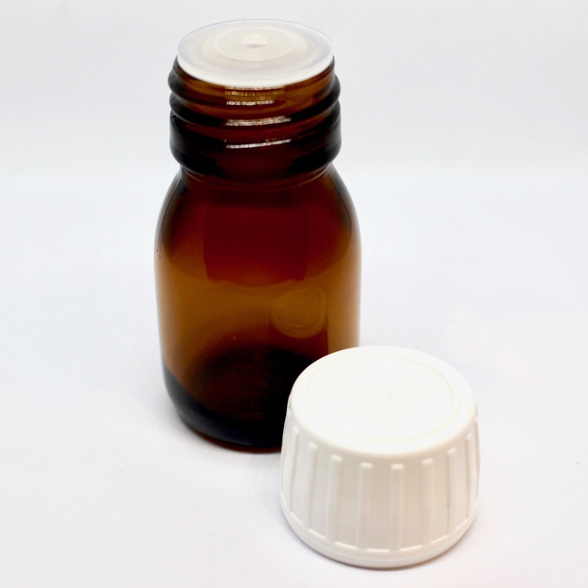 Amber glass bottle with dripulator: 30ml image 0