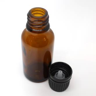 Amber glass dripulator bottle: 20ml