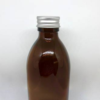 Amber glass bottle with aluminium cap: 250ml