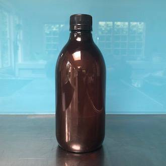 Amber plastic bottle: 500ml