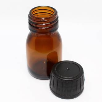 Amber glass bottle: 30ml