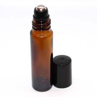 Roll-on amber glass bottle: 10ml