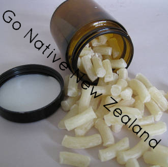 Beeswax pellets, NZ, white