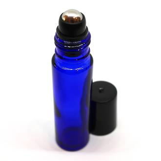 Roll-on blue glass bottle: 10ml