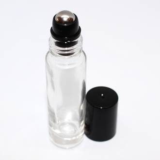 Roll-on clear glass bottle: 10ml