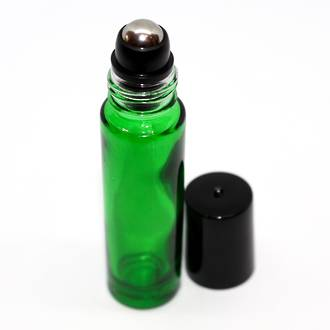 Roll-on green glass bottle: 10ml