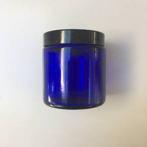 Blue glass pot: 100ml