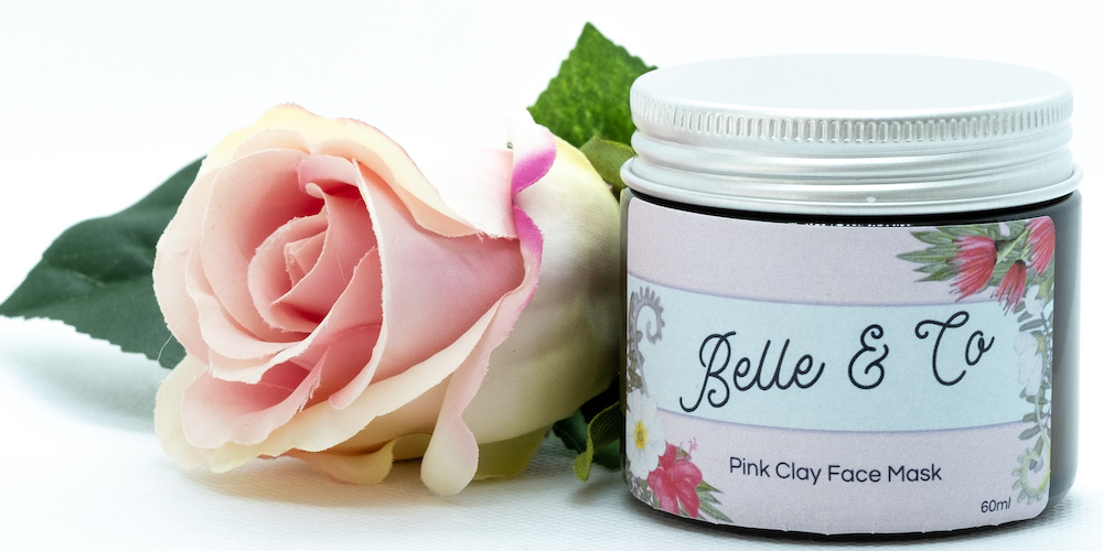 Belle & Co pink clay face mask