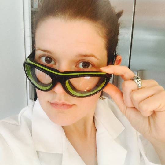Soapmaking safety goggles: green&black