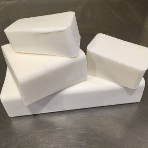 White organic melt and pour soap base