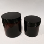 Glass pots: amber 50ml and 100ml